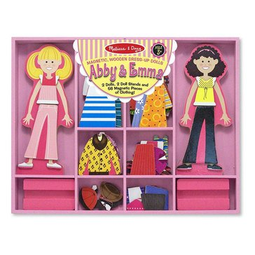 Melissa & Doug Abby and Emma Magnetic Dress-Up in Display
