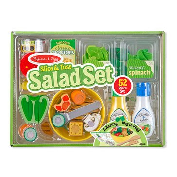 Melissa & Doug Slice and Toss Salad 52 Piece Play Food Set