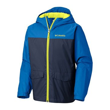 Columbia Little Boys' Rainzilla Jacket with Fleece Lining