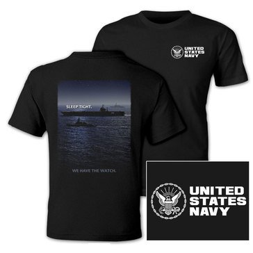 NavalTees Men's USN Sleep Tight We Have The Watch Tee