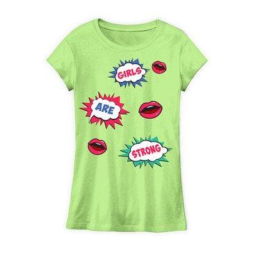 Yarn & Sea Big Girls' Girls' Are Strong Pop Art Graphic Tee