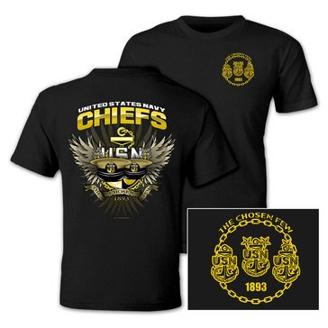 NavalTees Men's Chosen Few USN Chief Tee