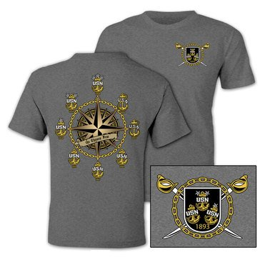 NavalTees Men's Semper Fortis USN Chief Tee