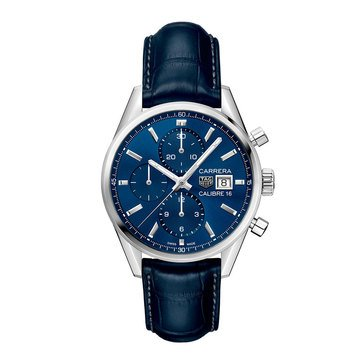 Tag Heuer Men's Carrera Calibre 16 Auto Alligator Strap Watch, 41mm