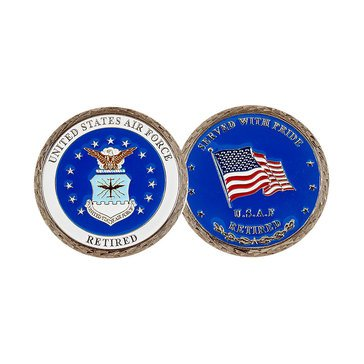 Challenge Coin Unites Sates Air Force Retired Coin