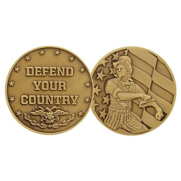 Challenge Coin Uncle Sam Defend Your Country Coin