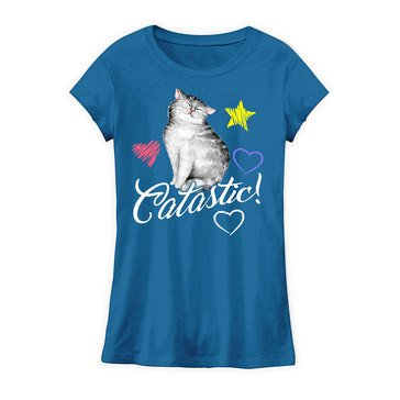 Yarn & Sea Little Girls' Catastic Graphic Tee