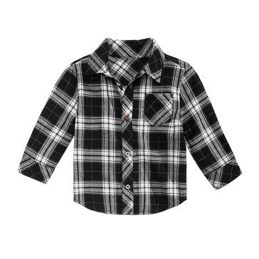 First Impressions Baby Boys' Flannel Plaid Shirt