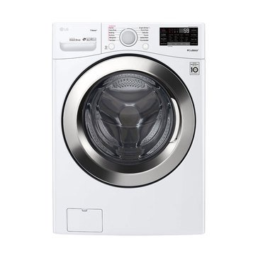 LG 4.5-Cu.Ft. Smart Wi-Fi Enabled Front Load Washer, White (WM3700HWA)