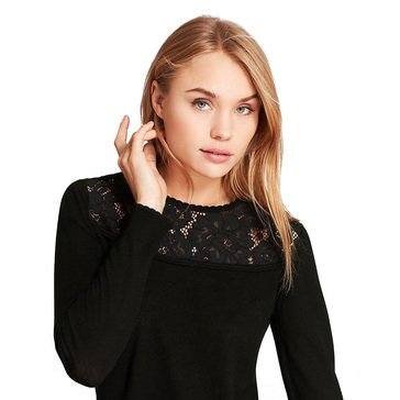 Brooks Brothers Women's Lace Yoke Pullover Top