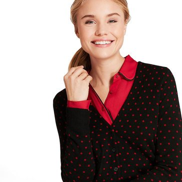 Brooks Brothers Women's Dot Cardigan