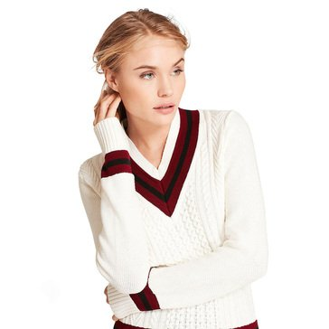 Brooks Brothers Womens V-Neck Tennis Sweater