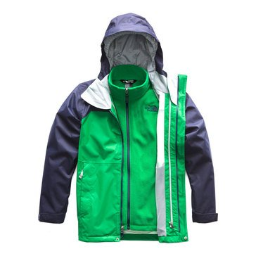The North Face Big Boys' Vortex Triclimate Jacket, Turkish Sea