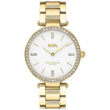 COACH Women's Park Sunray Dial Gold Bracelet and Stainless Steel Accents Watch, 34mm