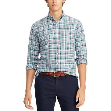 Polo Ralph Lauren Men's Long Sleeve Oxford Plaid Sport Shirt