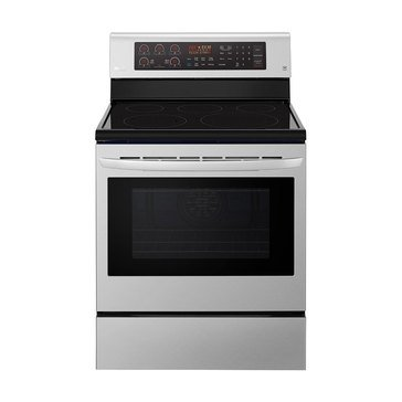 LG 6.3-Cu.Ft. Electric Single Oven Range with True Convection, Stainless Steel (LRE3194ST)
