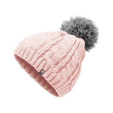 The North Face Girls' Oh Mega Fur Pom Beanie