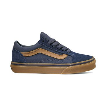 Vans Boys Old Skool Suede Skate Shoe (Little Kid)
