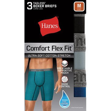 Hanes Comfort Flex Ultra Soft 3PK Long Leg Boxer Brief