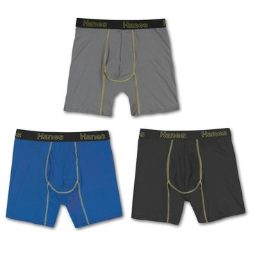 Hanes Comfort Flex Lightweight Mesh 3PK Long Leg Boxer Brief