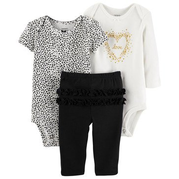 Carter's Baby Girls' 3-Piece Turn Me Around Love Set