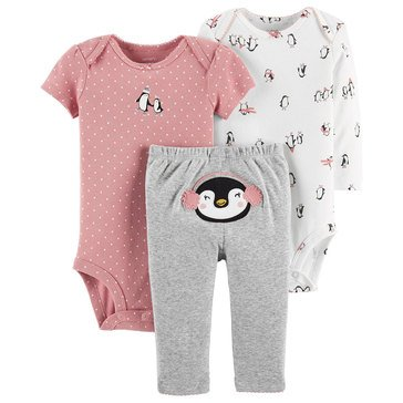 Carter's Baby Girls' 3-Piece Turn Me Around Penguin Set