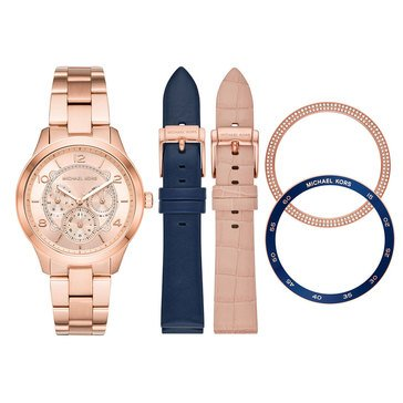 Michael Kors Women's Runway Rose Gold Bracelet Watch Boxed Set, 38mm