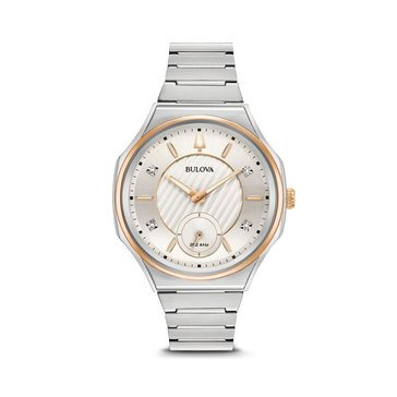 Bulova Ladies Curv Two-Tone Stainless Watch