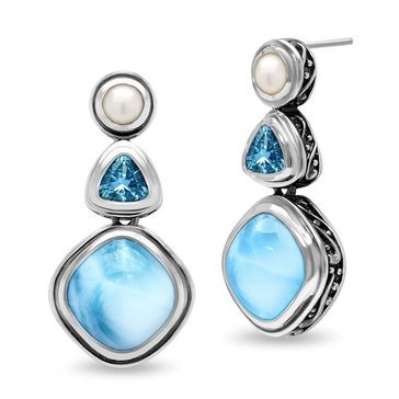 Marahlago Azure Earrings, Sterling Silver