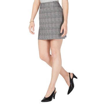 Maison Jules Women's Menswear Plaid Mini Skirt