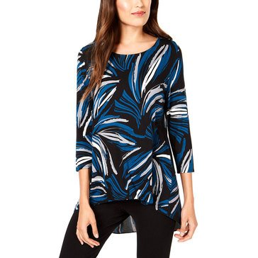 Alfani Women's Abstract Swirl Printed Tunic Top