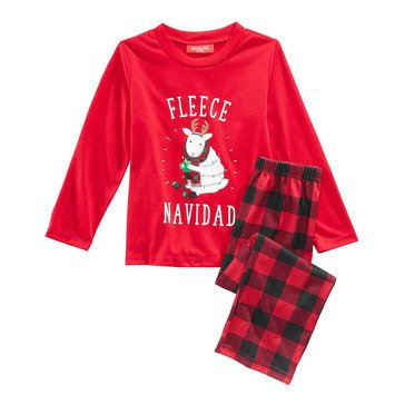 Charter Club Family Fleece Navidad Kid's Pjs