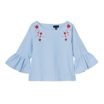 Yarn & Sea Little Girls' Stripe Woven Top