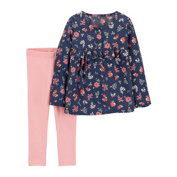 Carter's Baby Girls' 2-Piece Floral Pant Set