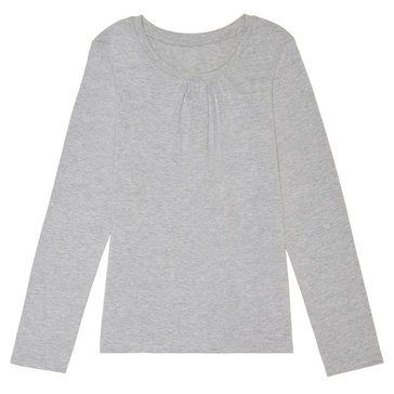 Yarn & Sea Big Girls' Long Sleeve Crewneck Tee