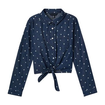 Yarn & Sea Big Girls' Dot Woven Top