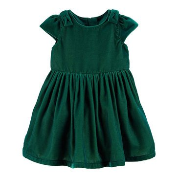 Carter's Baby Girls' Holiday Bow Velvet Dress