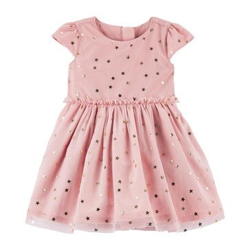 Carter's Baby Girls' Holiday Gold Dot Dress