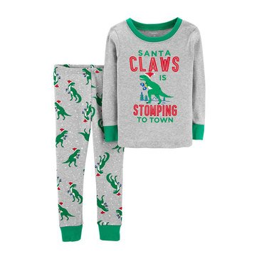 Carter's Baby Boys' Claws 2-Piece Holiday Pajamas Set