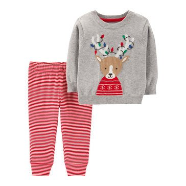 Carter's Newborn 2-Piece Reindeer Sweater Holiday Set