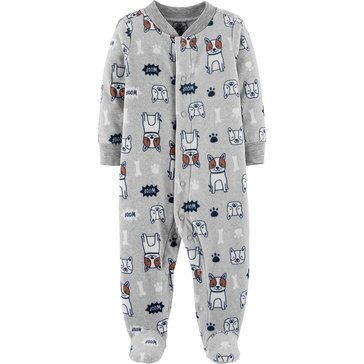 Carter's Baby Boys' Dog Micro Fleece Sleep 'N Play