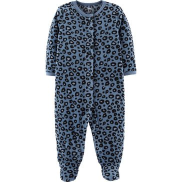 Carter's Baby Girls' Cheetah Micro Fleece Sleep 'N Play