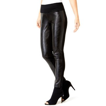 I.N.C. International Concepts Women's Pleather Front Ponte Pants