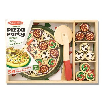 Melissa & Doug Pizza Party 54-Piece Pretend Food Play Set