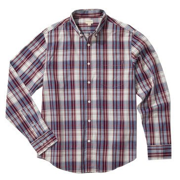Eight Bells Men's Long Sleeve Slim Fit Plaid Sport Shirt