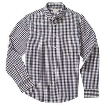 Eight Bells Men's Long Sleeve Slim Fit Gingham Sport Shirt