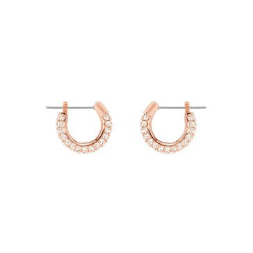 Swarovski Stone Pierced Earring Set, Small, Pink, Rose Gold Plating