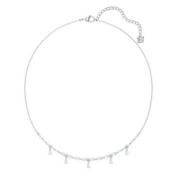 Swarovski Louison Small Crystal and Cubic Zirconia Necklace, Rhodium Plated