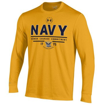 Under Armour Men's USN Charged Cotton Honor Courage Commitment Long Sleeve Tee