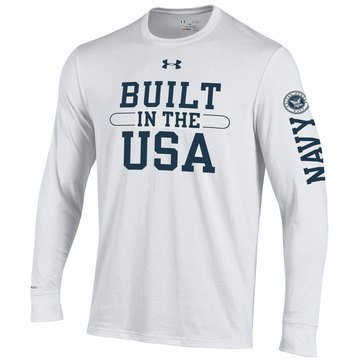 Under Armour Men's Navy Built in the USA Long Sleeve Tee